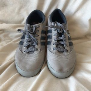 Adidas grey blue sneakers, size 7.5